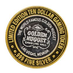 .999 Silver Golden Nugget Las Vegas $10 Casino Limited Edition Gaming Token