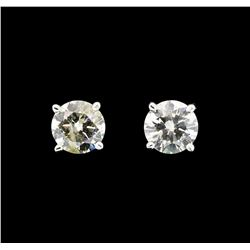 14KT White Gold 0.62ctw Diamond Earrings