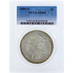 1889-O $1 Morgan Silver Dollar Coin PCGS MS65