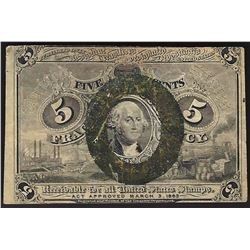 March 3, 1863 Five Cent Second Issue Fractional