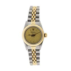 Rolex Ladies Two Tone Oyster Perpetual Wristwatch