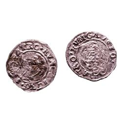Lot of (2) 1540-1590 KB Hungary Ferdinand I - Madonna & Child Silver Denar Coins
