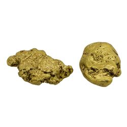 Lot of (2) Alaskan Gold Nuggets 4.81 Grams