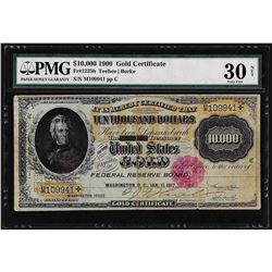 1900 $10,000 Gold Certificate Note Fr. 1225h PMG Very Fine 30 Net