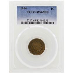 1904 Indian Head Penny PCGS MS63BN