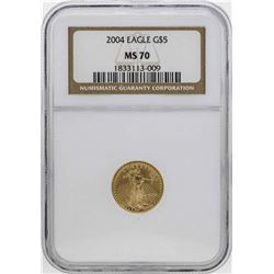 2004 $5 American Gold Eagle Coin NGC MS70
