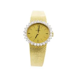 Omega 18KT Yellow Gold Ladies Wristwatch