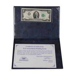 1976 $2 Federal Reserve Mismatch Prefix ERROR Note