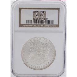 1885 $1 Morgan Silver Dollar Coin NGC MS65