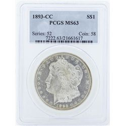1893-CC $1 Morgan Silver Dollar Coin PCGS MS63