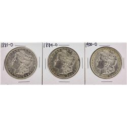 Lot of (3) Assorted Date New Orleans Mint $1 Morgan Silver Dollar Coins