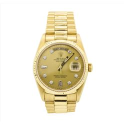 Rolex President 18KT Yellow Gold DayDate Mens Wristwatch