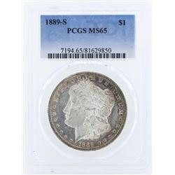 1889-S $1 Morgan Silver Dollar Coin PCGS MS65