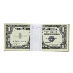 Lot of (50) 1957 $1 Silver Certificate Notes Circulated