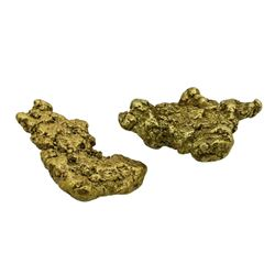Lot of (2) Australian Gold Nuggets 6.04 Grams