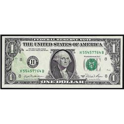 1981 $1 Federal Reserve Note Offset ERROR