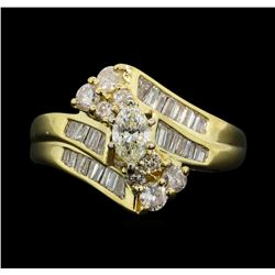 14KT Yellow Gold 1.03ctw Diamond Ring