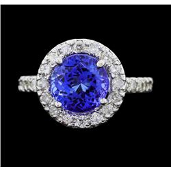 14KT White Gold 3.61ct Tanzanite and Diamond Ring