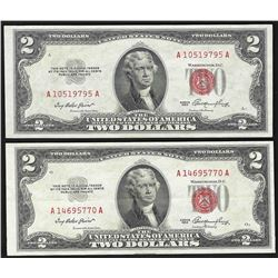 Set of (2) 1953 $2 Legal Tender Notes