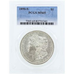 1890-S $1 Morgan Silver Dollar Coin PCGS MS65