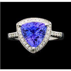 14KT White Gold 3.09ctw Tanzanite and Diamond Ring