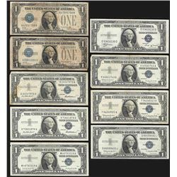 Lot of (8) 1928/1935/1957 $1 Silver Certificate Notes