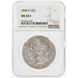 1898-O $1 Morgan Silver Dollar Coin NGC MS65+