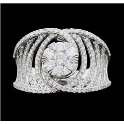 14KT White Gold 1.00ctw. Diamond Effy Designer Ring