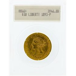 1893-P $10 Liberty Head Eagle Gold Coin