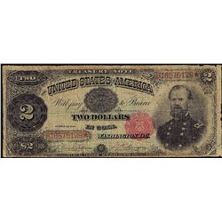 1890 $2 Treasury Note