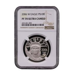 2006-W $100 American Platinum Eagle Coin NGC PF70 Ultra Cameo