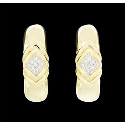 14-18KT Yellow and White Gold 0.50ctw Diamond Clip Earrings