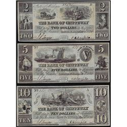 Lot of (3) 1838 The Bank of Chippeway Obsolete Bank Note