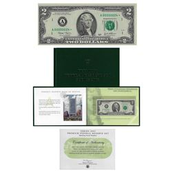 Series 2003 $2 Premium Federal Reserve Set Low Serial!