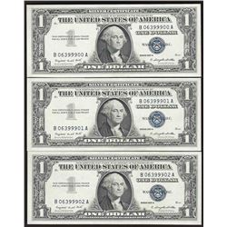 Lot of (3) 1957 $1 Silver Certificate Notes Uncirculated