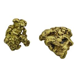 Lot of (2) Australian Gold Nuggets 15.21 Grams