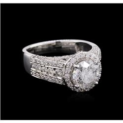 2.84 ctw Diamond Ring - 14KT White Gold