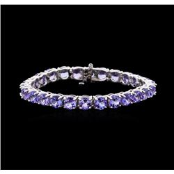 27.02 ctw Tanzanite Bracelet - 14KT White Gold