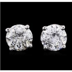 14KT White Gold 1.79 ctw Diamond Stud Earrings