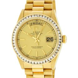 Rolex 18KT Gold President 2.75 ctw Diamond DayDate Men's Watch