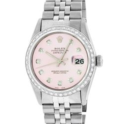 Rolex Stainless Steel 1.00 ctw Diamond DateJust Men's Watch