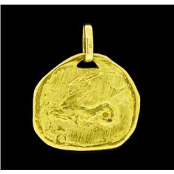 Gazelle Motif Pendant - 18KT Yellow Gold