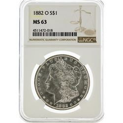 1882-O NGC MS63 Morgan Silver Dollar