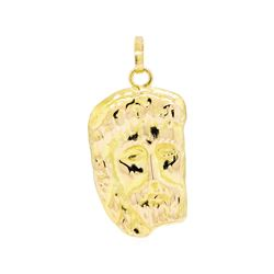 Jesus Pendant - 18KT Yellow Gold