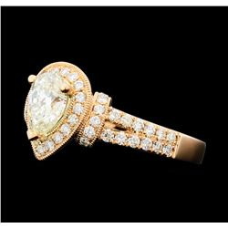 1.73 ctw Diamond Ring - 14KT Rose Gold