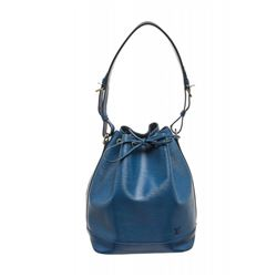 Louis Vuitton Blue Epi Leather Noe GM Drawstring Sholder Bag