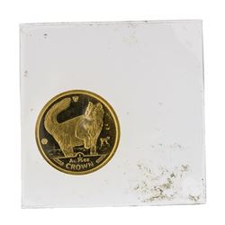 1991 1/25 oz Crown Isle of Man Gold Coin