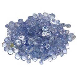 12.08 ctw Round Mixed Tanzanite Parcel