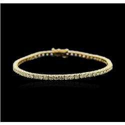 18KT Yellow Gold 4.98 ctw Diamond Tennis Bracelet