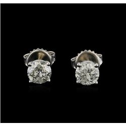 14KT White Gold 1.31 ctw Diamond Stud Earrings